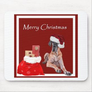 Tapis De Souris Chien great dane de Noël