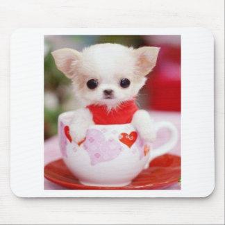 Tapis De Souris chiot adorable de tasse de thé