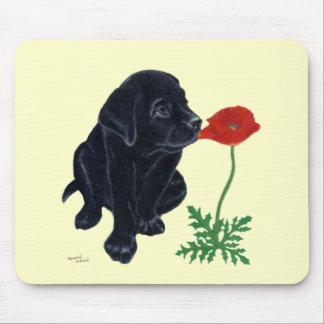 Tapis De Souris Chiot noir de Labrador