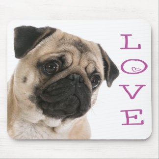 Tapis De Souris Chiot Purple Heart LoveMousepad de carlin