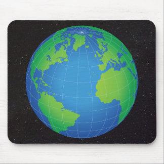 Tapis De Souris Ciel étoilé de carte de globe du monde