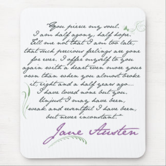Tapis De Souris Citation #1 de la persuasion de Jane Austen