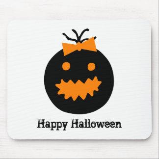 Tapis De Souris Citrouille mignon de Halloween avec l'arc