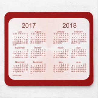 Tapis De Souris Classe du calendrier 2018 marron rose par Janz