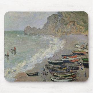Tapis De Souris Claude Monet   Etretat, plage et d'Amont de Porte
