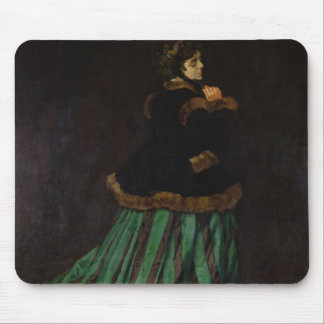 Tapis De Souris Claude Monet   la femme dans la robe verte, 1866