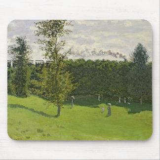 Tapis De Souris Claude Monet   le train dans le pays, c.1870-71