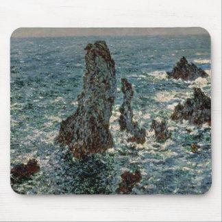 Tapis De Souris Claude Monet | les roches au Belle-Ile, 1886