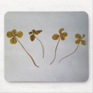 Tapis De Souris Clovers, feuilles de trèfle, Mousepad,