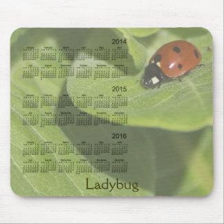 Tapis De Souris Coccinelle calendrier Mousepad de 3 ans 2014-2016