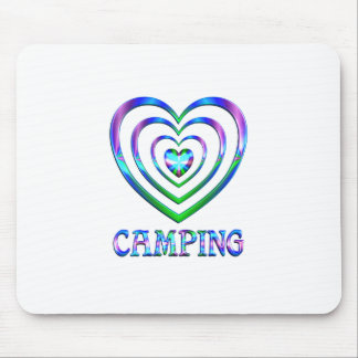 Tapis De Souris Coeurs de camping
