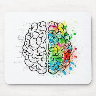 Tapis De Souris coeurs d'idée de psychologie d'esprit de cerveau