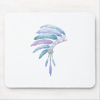 Tapis De Souris Coiffe indienne dans la couleur pour aquarelle
