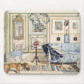 Tapis De Souris Coin confortable par Carl Larsson