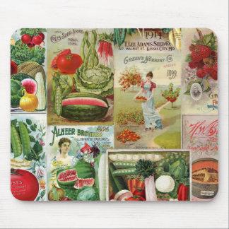 Tapis De Souris Collage de catalogue de fruit et de graine de
