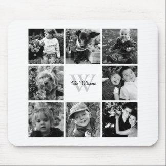 Tapis De Souris Collage et monogramme de photo de famille