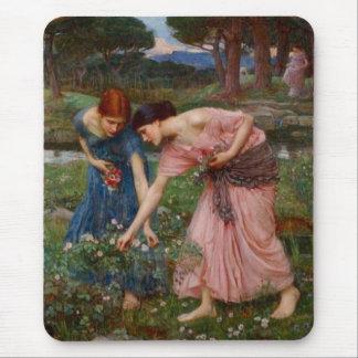 Tapis De Souris Collecte des boutons de rose