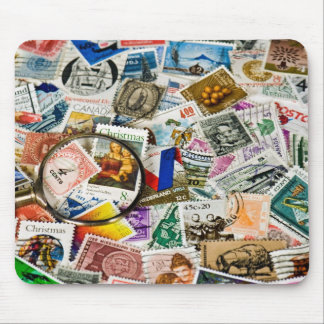 Tapis De Souris Collection de timbre vintage