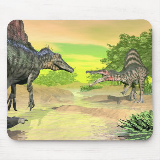 Tapis De Souris Combat de dinosaures de Spinosaurus - 3D rendent