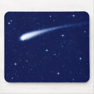 Tapis De Souris Comète #2 - Bleu marine horizontal de tapis de