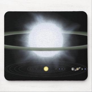 Tapis De Souris Comparaison de la taille d'une étoile hypergiant