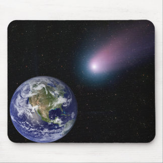 Tapis De Souris Composé de Digitals d'un titre de comète vers l'ea