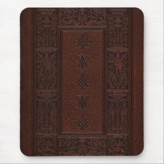 Tapis De Souris Conception antique de livre de relief de cuir de