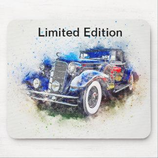 Tapis De Souris Conception bleue vintage Mousepad de voiture