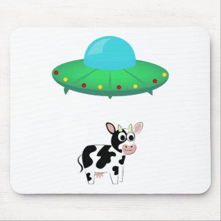 Tapis De Souris Conception d'abduction de vache à UFO