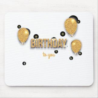 Tapis De Souris conception d'anniversaire de ballon