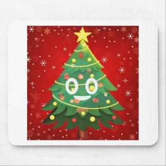 Tapis De Souris Conception d'arbre de Noël d'Emoji