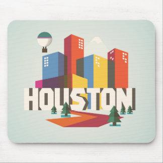 Tapis De Souris Conception de Houston, paysage urbain du Texas |