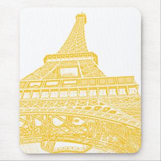 Tapis De Souris Conception de Tour Eiffel d'or