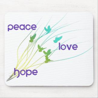 Tapis De Souris Conception d'espoir d'amour de paix
