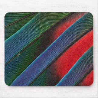 Tapis De Souris Conception dirigée bleue de plume de perroquet