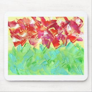 Tapis De Souris Conception florale abstraite de la peinture