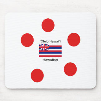 Tapis De Souris Conception hawaïenne de drapeau et de langue