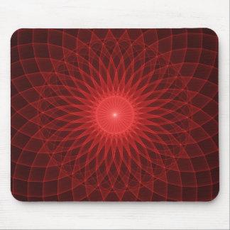 Tapis De Souris Conception psychédélique Mousepad de lumière rouge