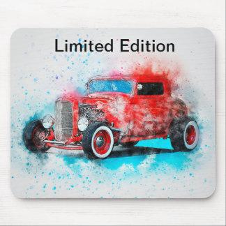 Tapis De Souris Conception rouge vintage Mousepad de voiture
