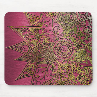 Tapis De Souris Conception tirée par la main de henné à la mode