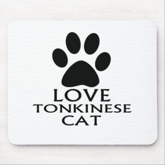 TAPIS DE SOURIS CONCEPTIONS DE CAT DE L'AMOUR TONKINESE