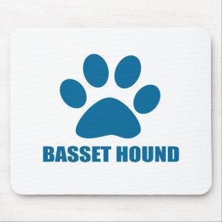 TAPIS DE SOURIS CONCEPTIONS DE CHIEN DE BASSET HOUND