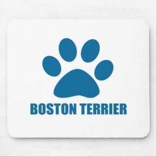 TAPIS DE SOURIS CONCEPTIONS DE CHIEN DE BOSTON TERRIER