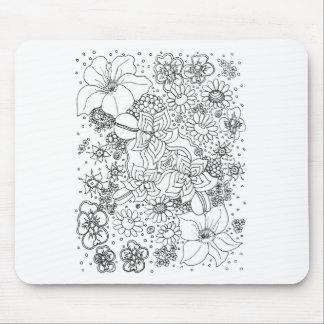 Tapis De Souris Conglomération des fleurs