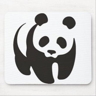 Tapis De Souris Contour Mousepad de silhouette de panda