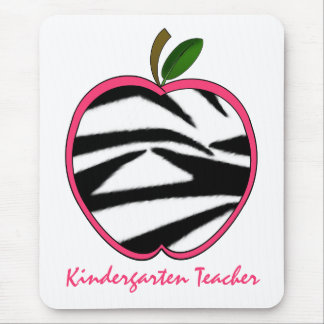 Tapis De Souris Copie Apple de zèbre d'institutrice gardienne