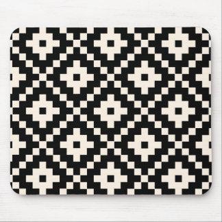 Tapis De Souris Copie de bloc aztèque de style - noir et crème