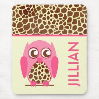 Tapis De Souris Copie de girafe et Mousepad personnalisé par hibou