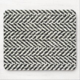 Tapis De Souris Copie noire de tweed en arête de poisson et