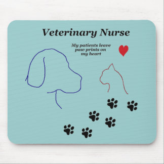 Tapis De Souris Copies vétérinaires d'Infirmière-Patte sur mon